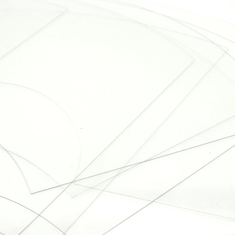 扇面型アクリル定規セット